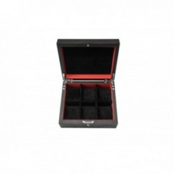 KronoKeeper black ash watch box for 6 watches