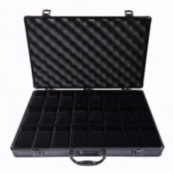 Black Aluminium case by KronoKeeper for 24 watches