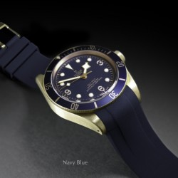 Rubber B strap T803 Navy with buckle
