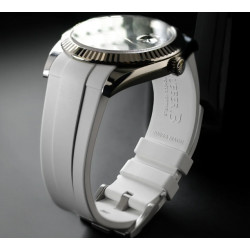 Rubber B strap M141 White with buckle