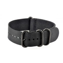 Black NATO Zulu Extreme watch strap with PVD buckles