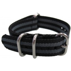 "Black/Grey ""Bond"" NATO Zulu Extreme watch strap"