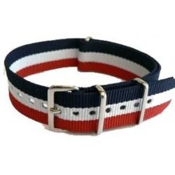 Watch NATO Strap Blue/White/Red