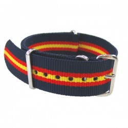 Watch NATO strap Blue/Red/Yellow