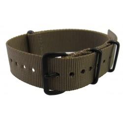 Khaki brown NATO watch strap PVD