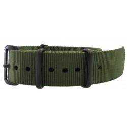 Khaki green NATO watch strap PVD