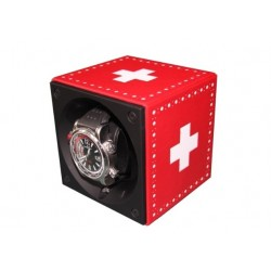 SwissKubik MasterBox single watch winder - Swiss Flag