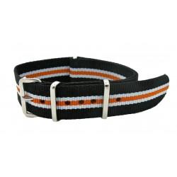 Watch NATO strap Black/White/Orange