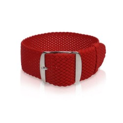 Red Perlon watch strap