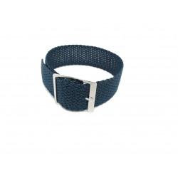 Navy blue/blue Perlon watch strap