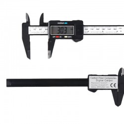 Digital Caliper 150 mm / 0.01 mm in Carbon Fiber Composite