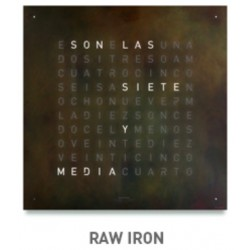 QLOCKTWO LARGE Raw Iron