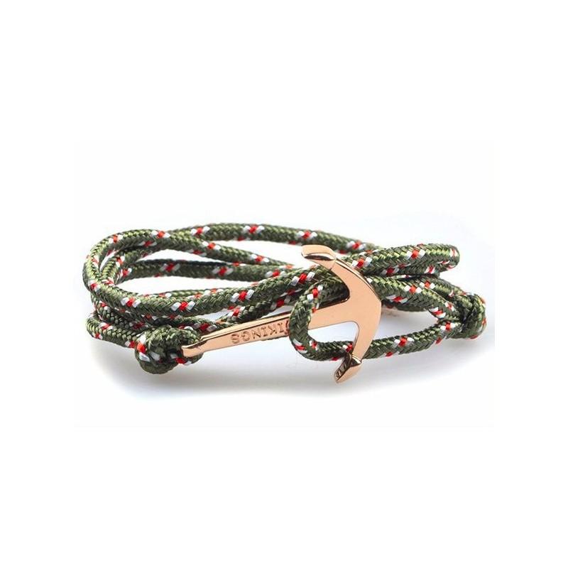 Gold plated anchor bracelet