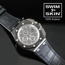 Rubber B strap Sailcloth SwimSkin APC44 Black