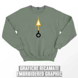 ORANGE ARROW SWEATSHIRT - Olive green