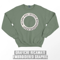 DATE WHEEL SWEATSHIRT - Olive green