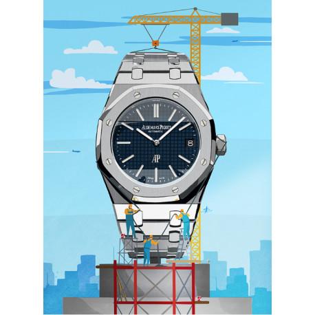 Watchoniste X MisterChrono art printing - skyscraper - 60x80