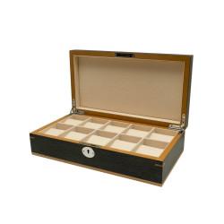 Clipperton 10 watch box in grey wood