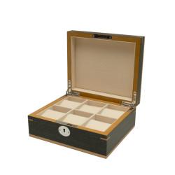 Clipperton 6 watch box in grey wood
