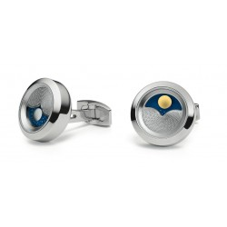 "Cufflinks TFest 1968 ""Planet"" shiny stainless steel"