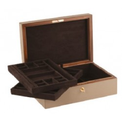 Giobagnara Platinum Jewellery Box with 2 Trays