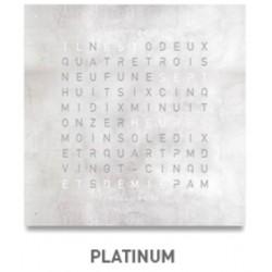 QLOCKTWO LARGE Platinum