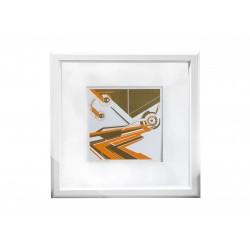 Orange screenpainting Chronograph