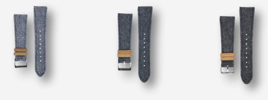 Fabric watch straps
